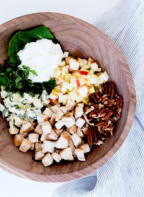 Creamy Autumn Chicken Salad with Apples & Pecans {gluten-free}