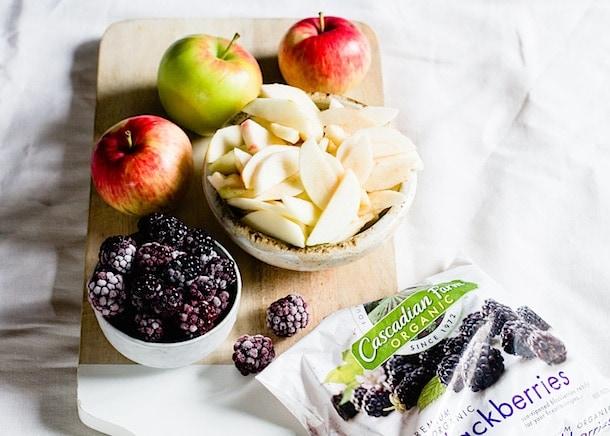 Berry Apple Buckle Cake {with frozen blackberries}