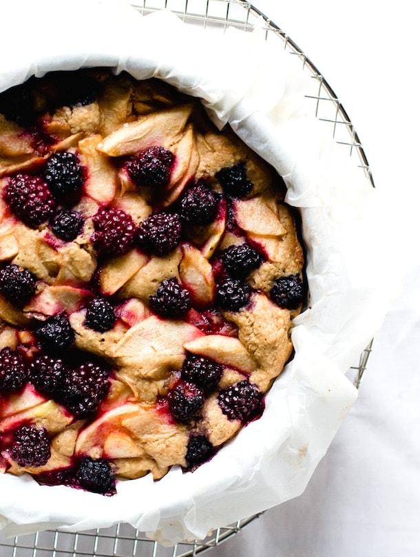 Berry Apple Buckle Cake {gluten-free} via heartbeet kitchen blog