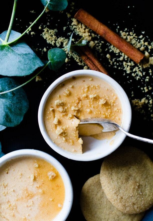 Maple Butternut Squash Panna Cotta {via @amandapaa} with @ginnybakes gluten-free cinnamon cookies