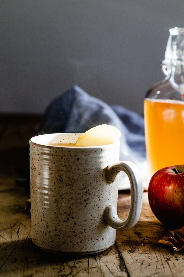 Spiced Apple Shrub Hot Toddy {can be made with or without alcohol}