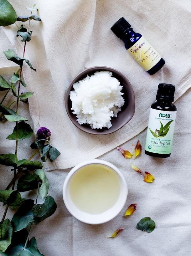 DIY Hand Repair Cream (uses eucalyptus & lemongrass essential oils. just 4 ingredients, natural skincare)