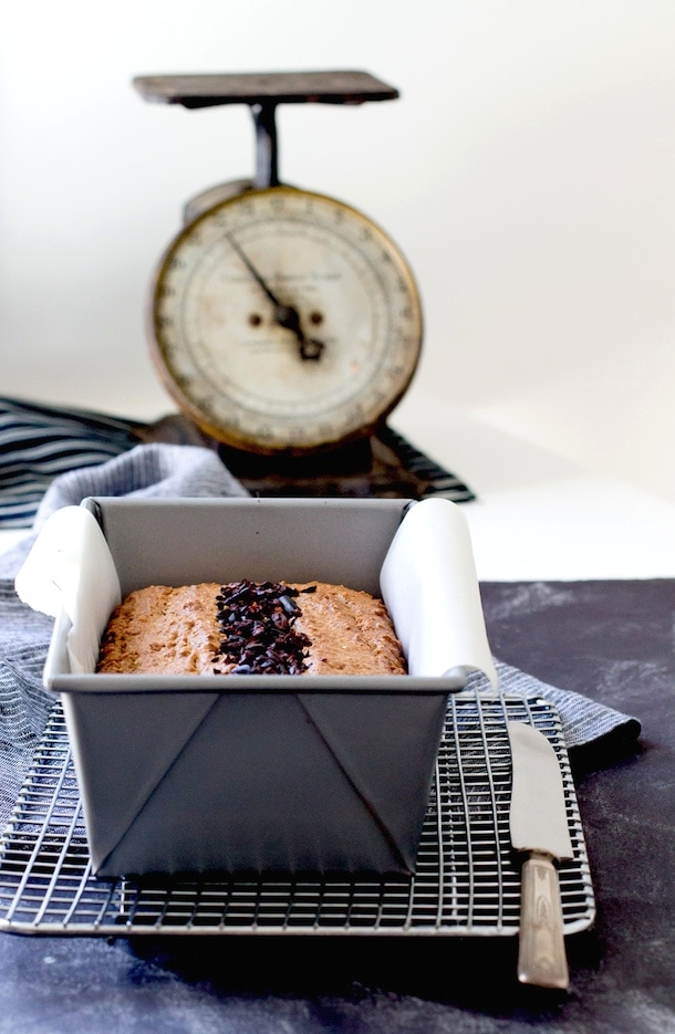 Vanilla Almond Butter Bread with Cacao Nibs {gluten-free}