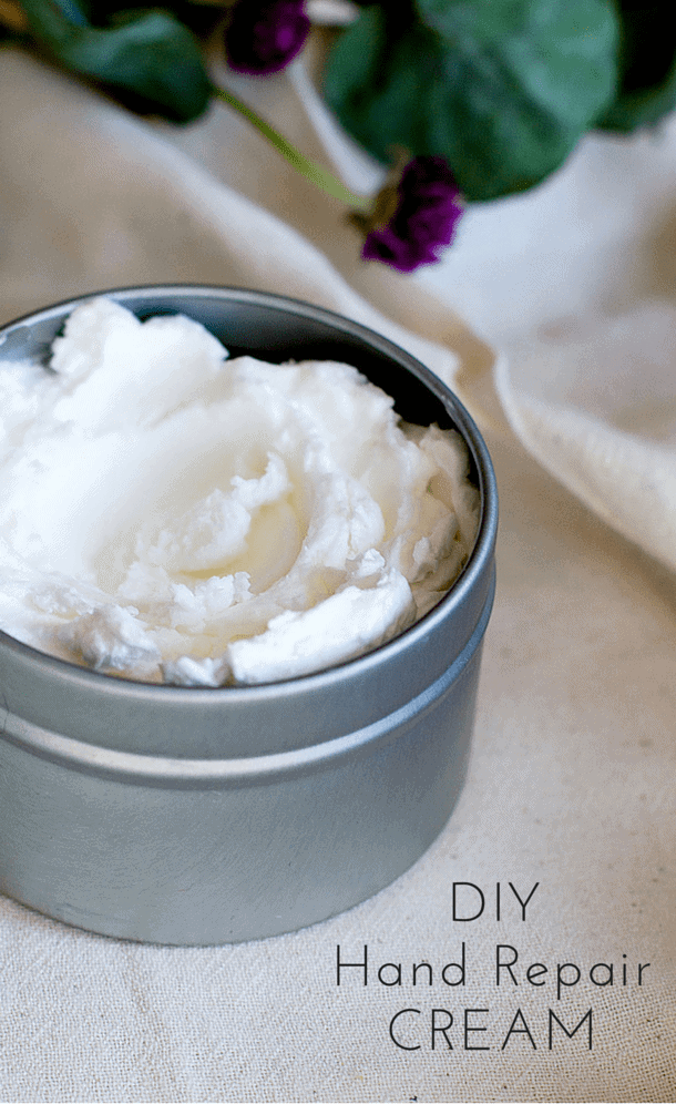 DIY Hand Repair Cream (4 ingredients, natural skincare)