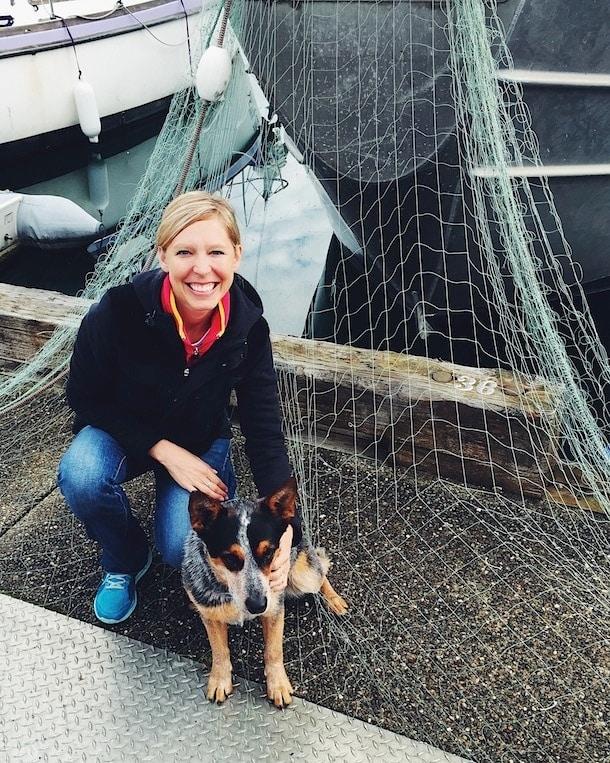 Fishing Dog on the Dock ~ Cordova Harbor