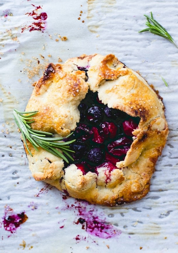 Cranberry Blueberry Mini Galettes.