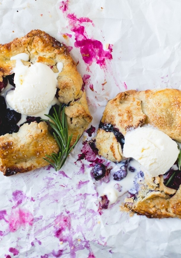 Cranberry Blueberry Mini Galettes {gluten-free}