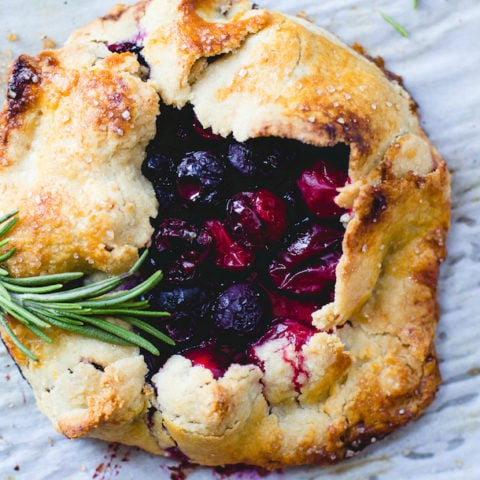 Cran-Blueberry Mini Galettes {gluten-free}