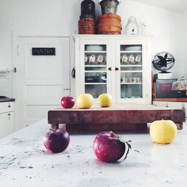 Heirloom Apples, Vintage Kitchen