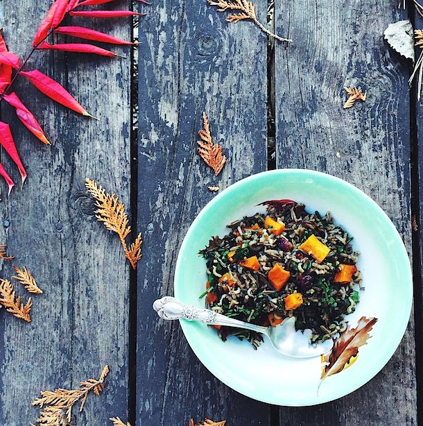 Wild Rice & Butternut Squash Salad