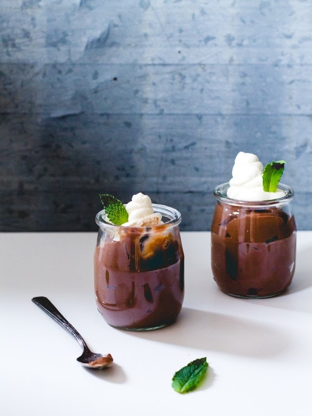 Mint Chocolate Pots de Creme (heartbeet kitchen blog)