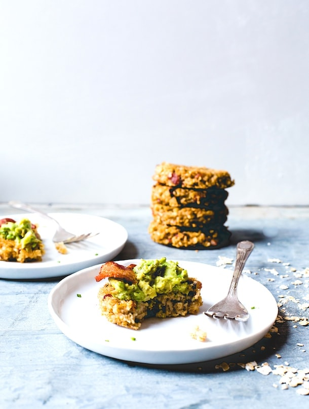 Bacon Oatmeal Fritters with Avocado | gluten-free, dairy-free