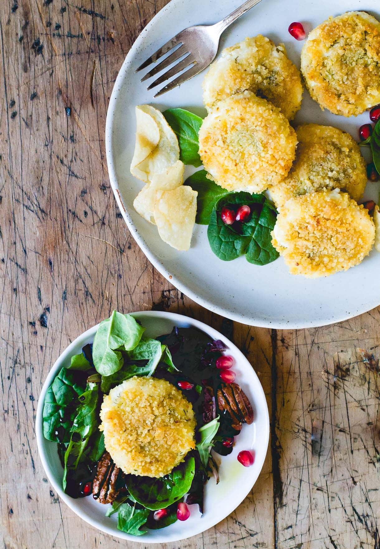 Crispy Potato Chip Crusted {baked} Goat Cheese