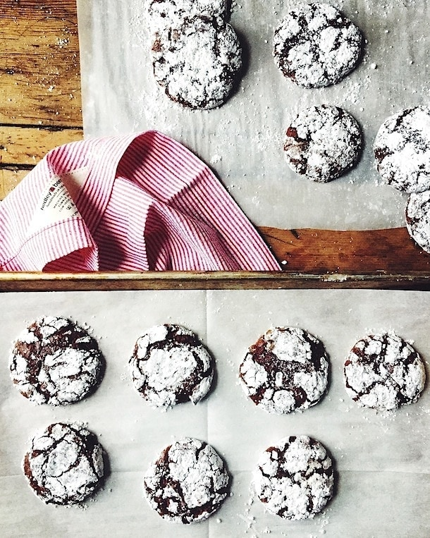 gluten-free Peppermint Chocolate Crinkles