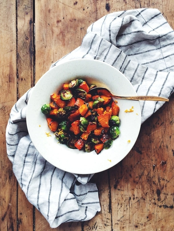 Orange Glazed Brussels Sprouts & Butternut Squash {gluten-free}