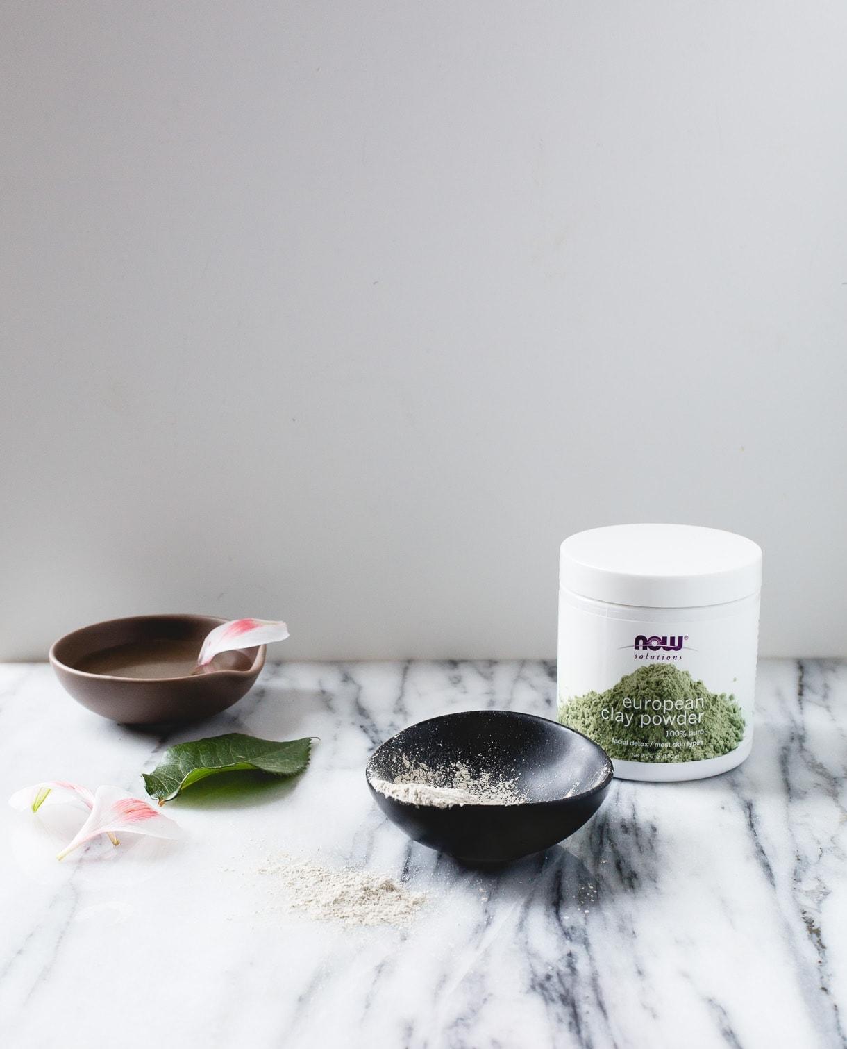 Moisturizing DIY Clay Mask {3 ingredients, using european clay powder}