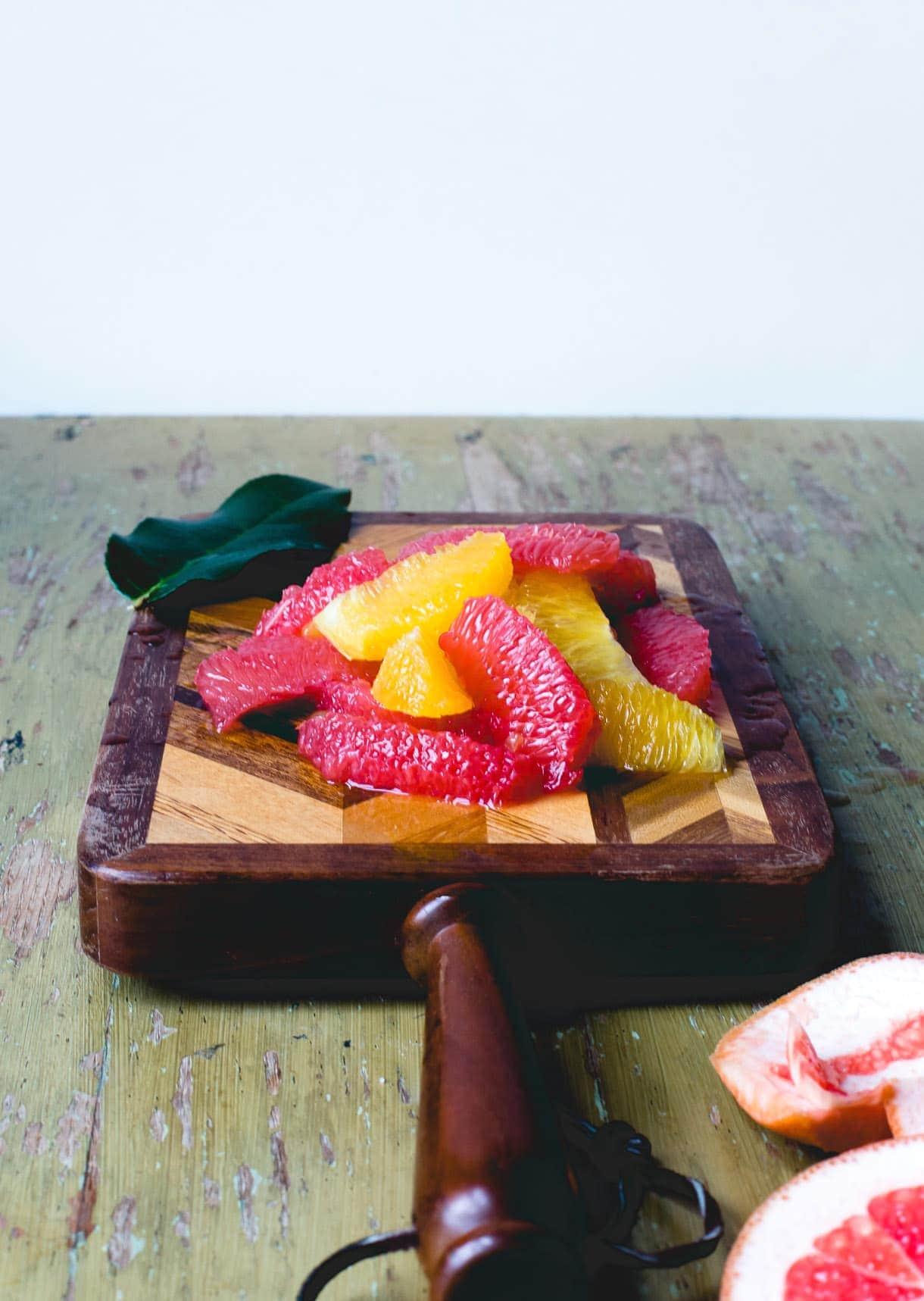 Roasted Citrus Bowl with Honey Mascarpone {gluten-free}