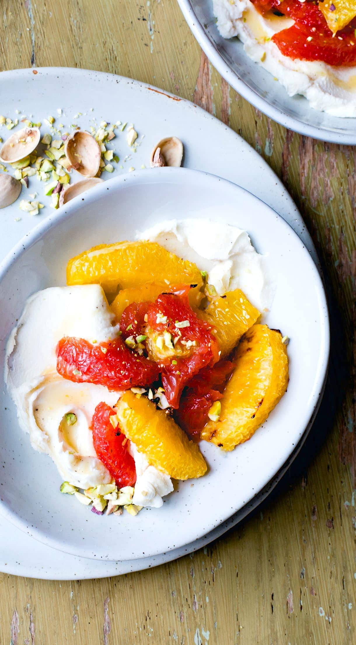 Roasted Citrus Bowls with Honey Mascarpone Cream {heartbeet kitchen blog}