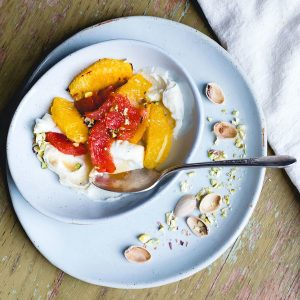 Roasted Citrus Bowl with Honey Mascarpone {heartbeet kitchen blog}