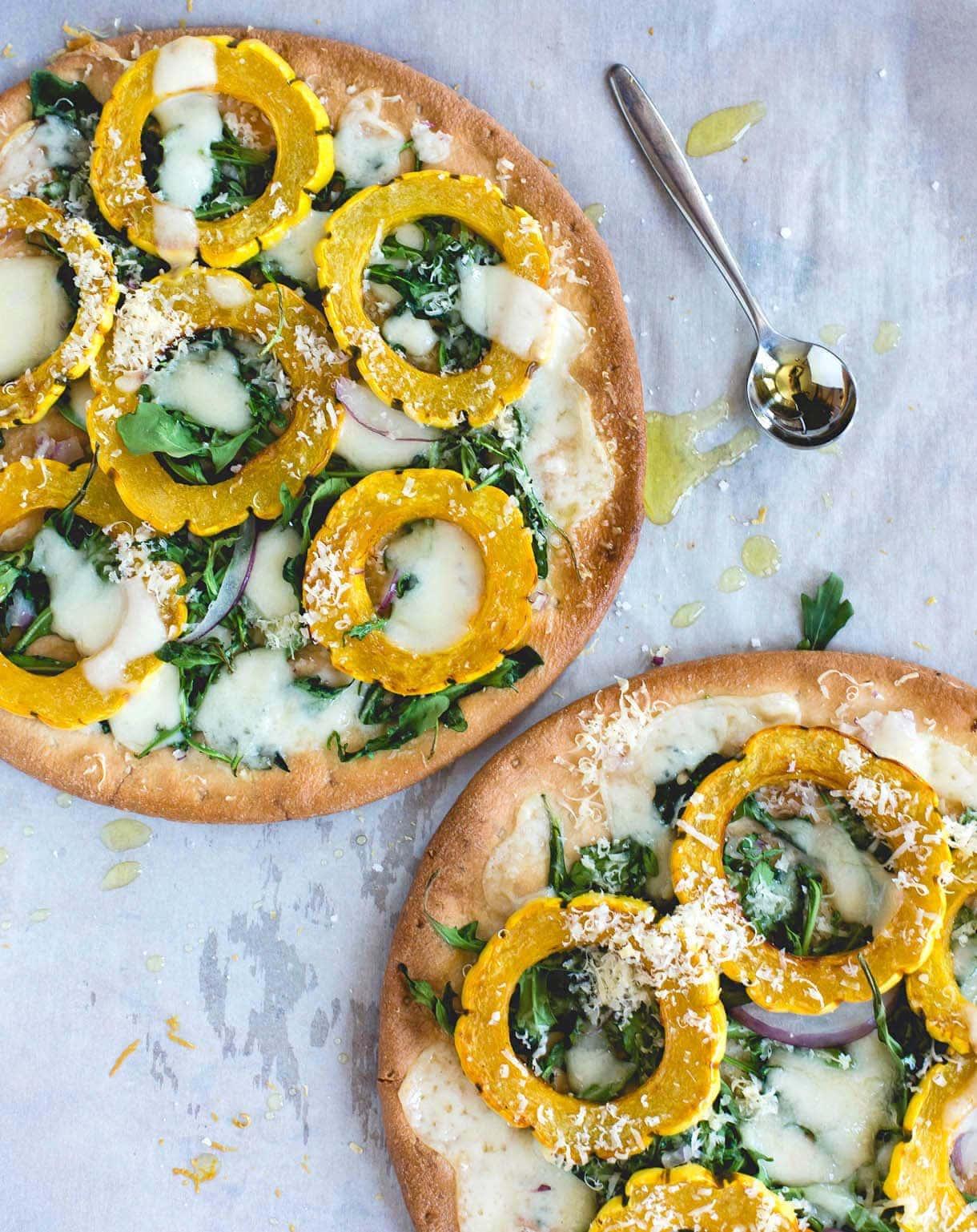 Winter White Pizza with Delicata Squash & Gouda