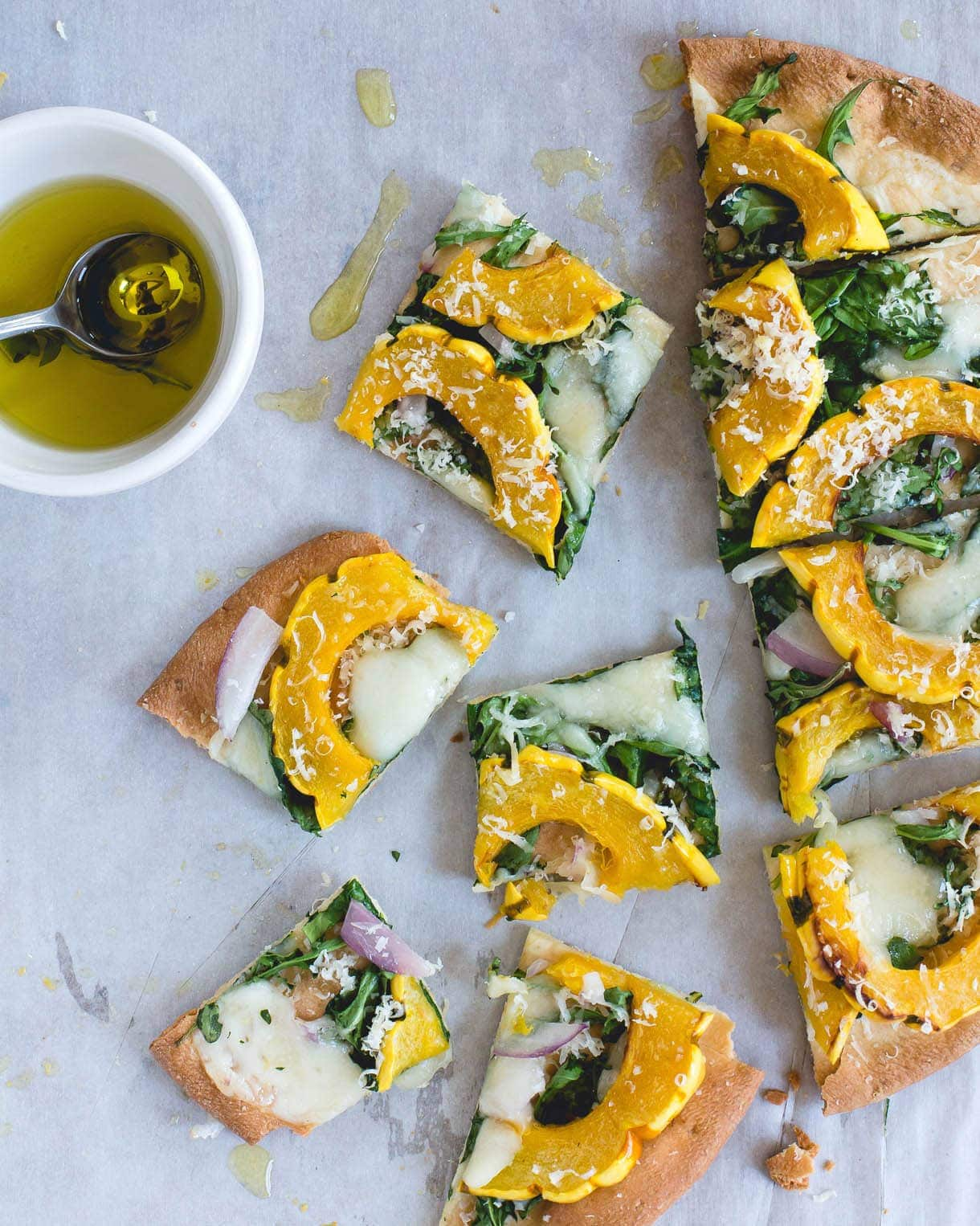 Gluten-Free Pizza with Delicata Squash & Creamy Gouda