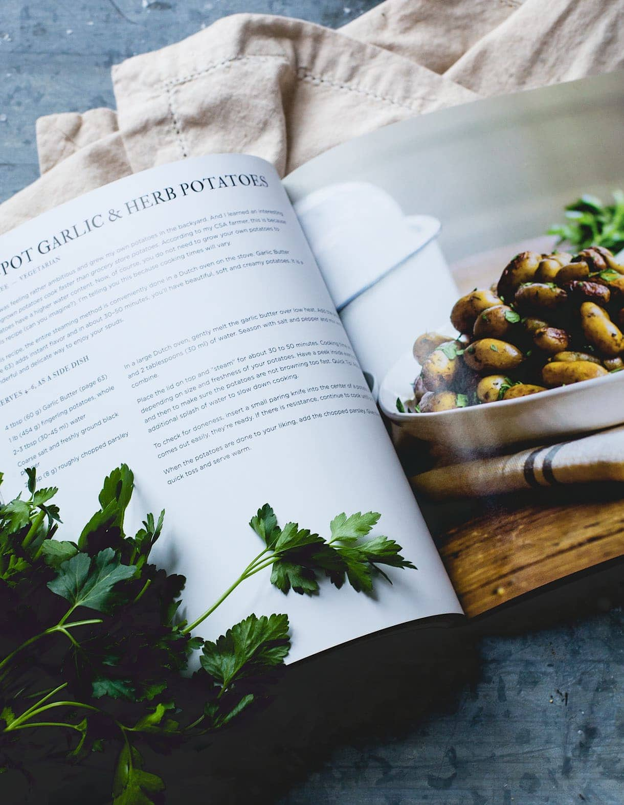 Garlic Butter Fingerling Potatoes from The Clever Cookbook