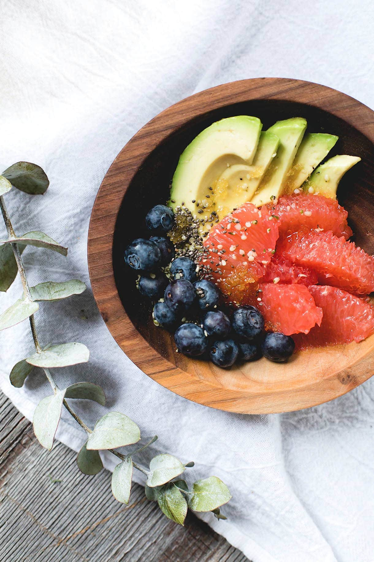 Super-Seed Fruit Salad {vegan}