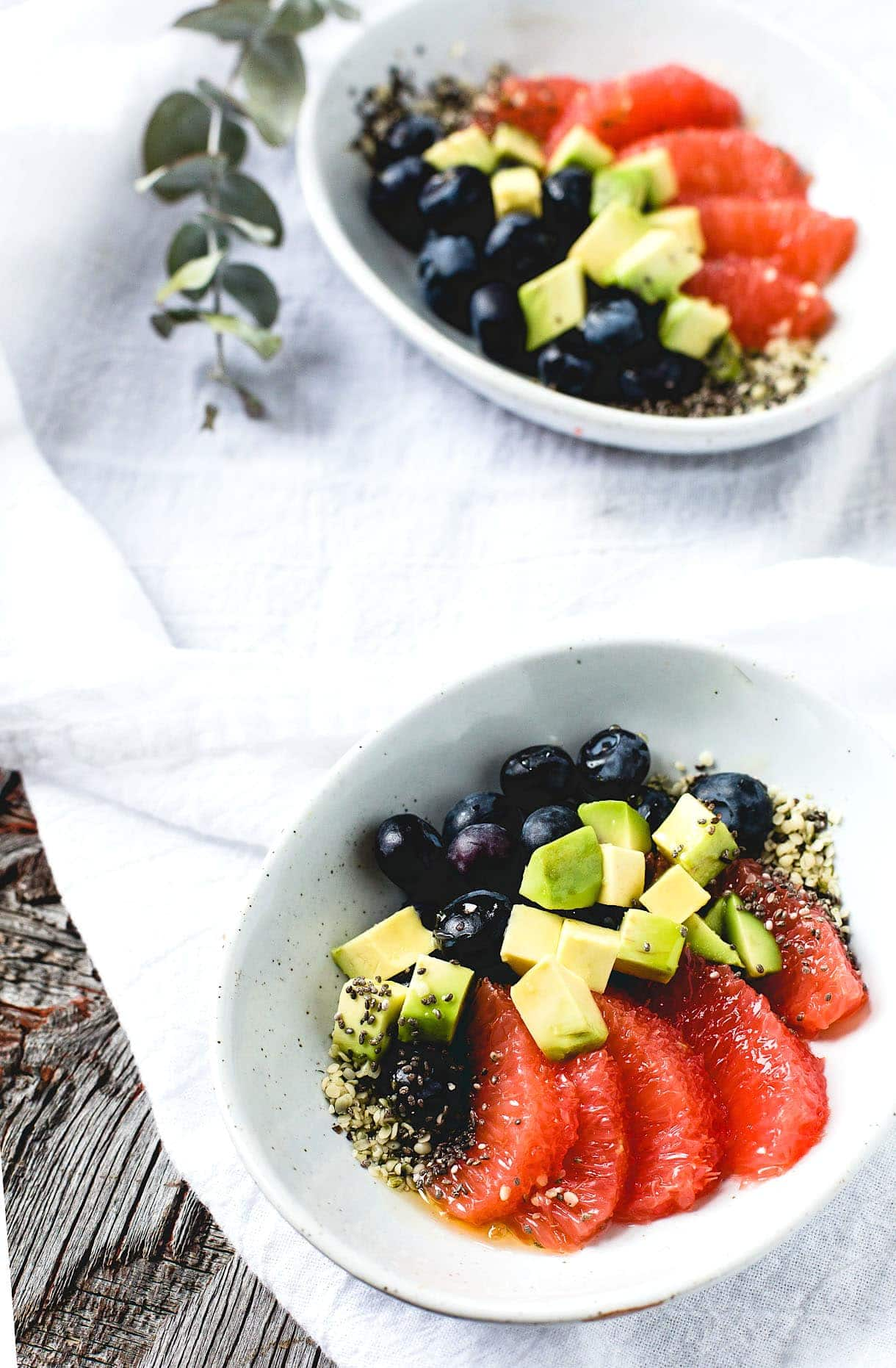 Super Sparklin' Fruit Salad with Avocado + Seeds