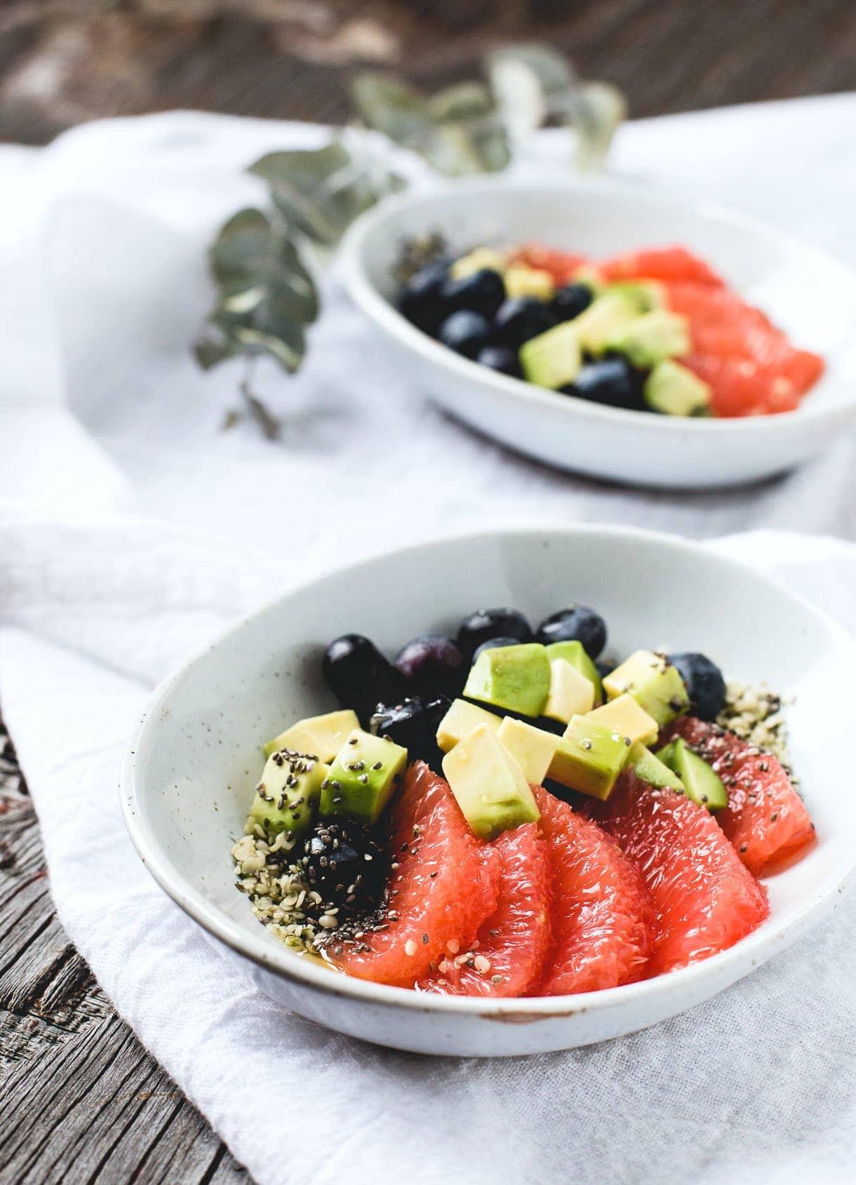 Superseed Avocado Fruit Salad {paleo, vegan}
