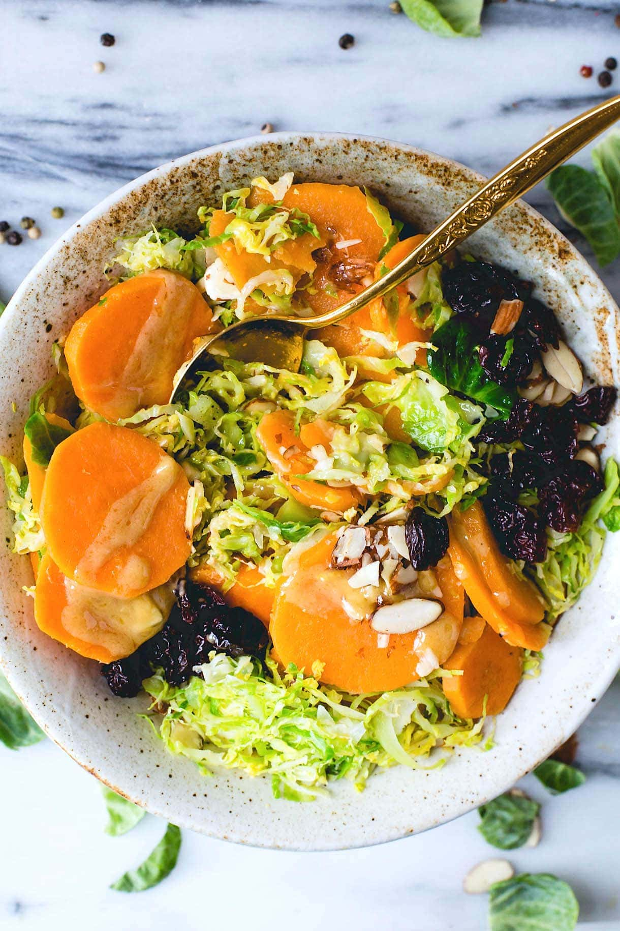 Warm Sweet Potato Salad with Maple Mustard Vinaigrette (via @amandapaa ...