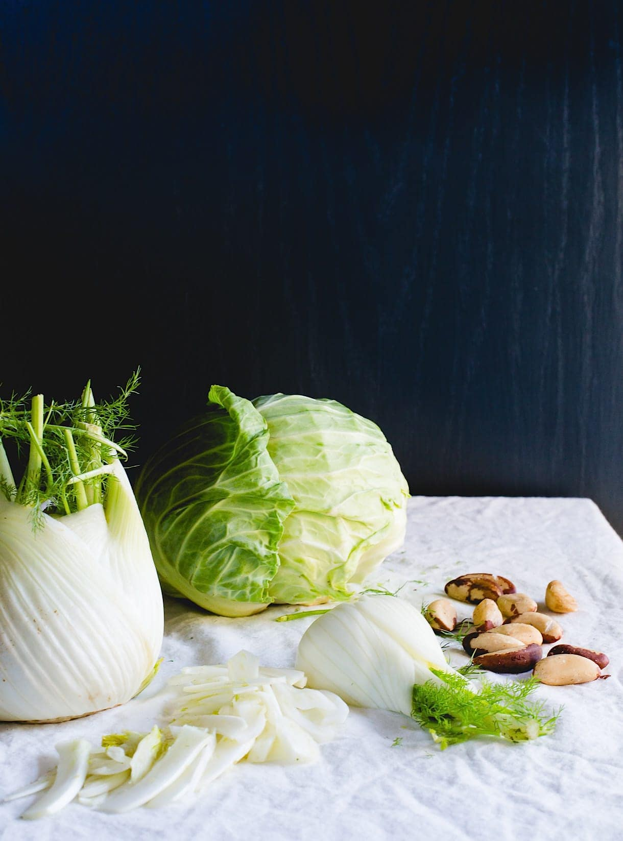 Cabbage Fennel Soup with brazil nuts {paleo}