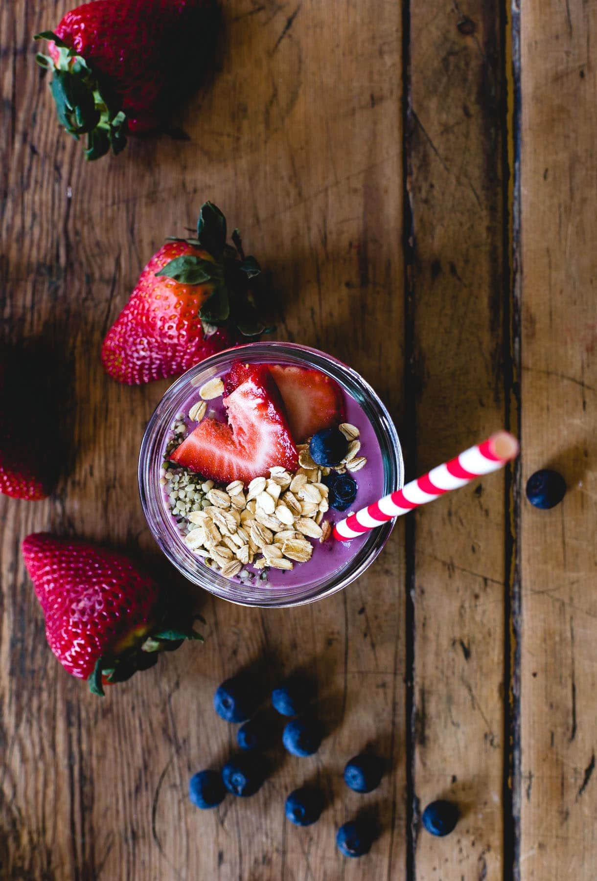 Honey Triple Berry & Soaked Oats Smoothie {recipe}