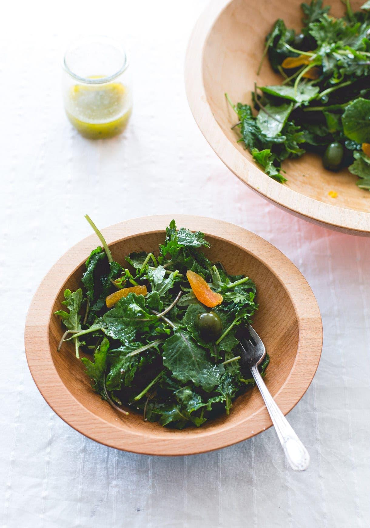 Amazing Baby Kale Salad with Shallot Vinaigrette