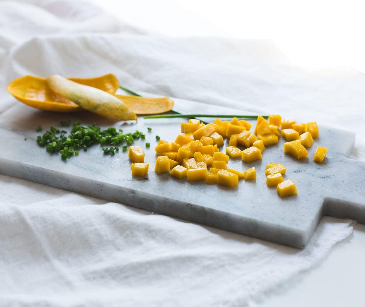 Paleo Mango Chicken Breakfast Sausages {five ingredients}