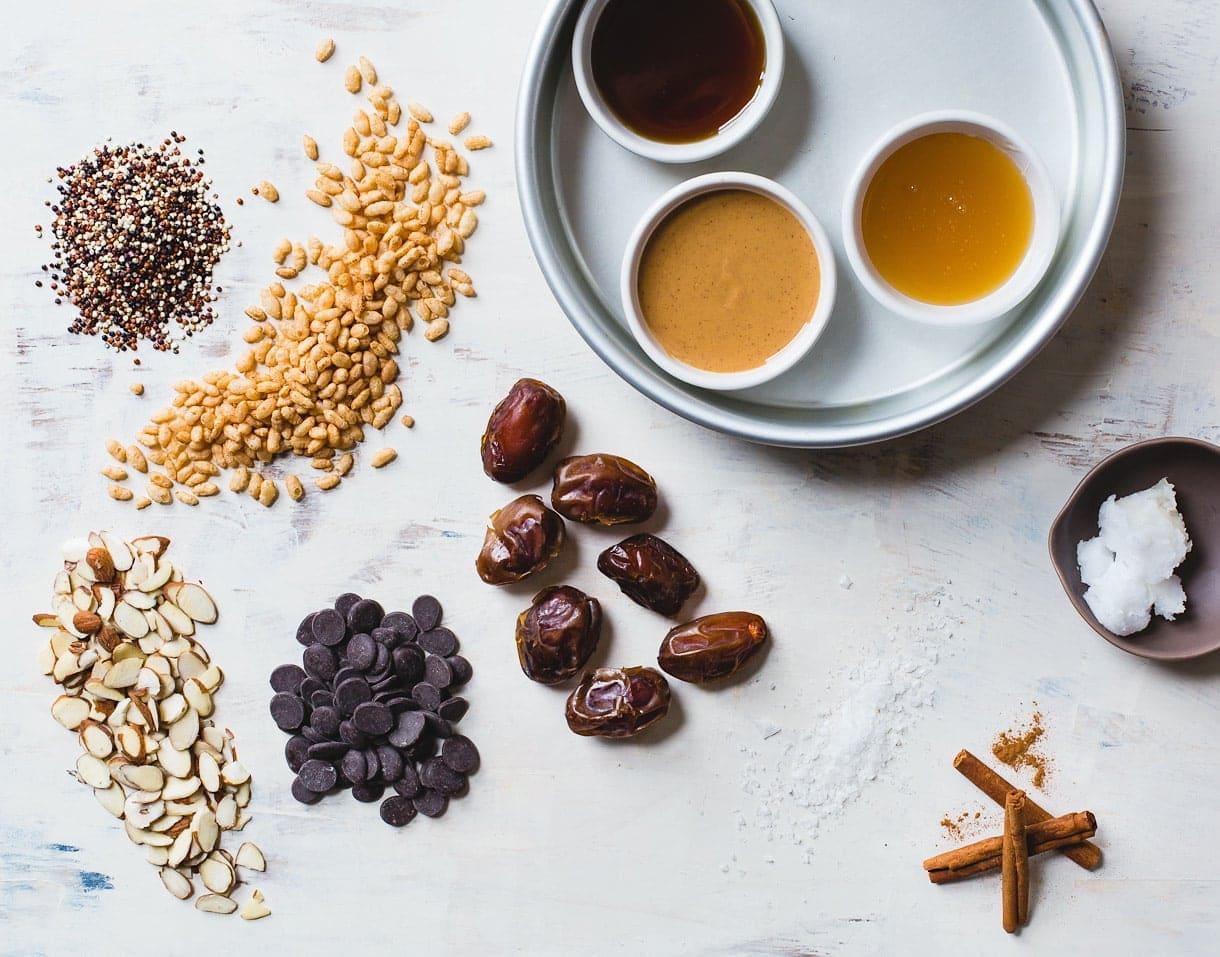 Salty Date Caramel Scotcheroos {vegan, gluten-free}