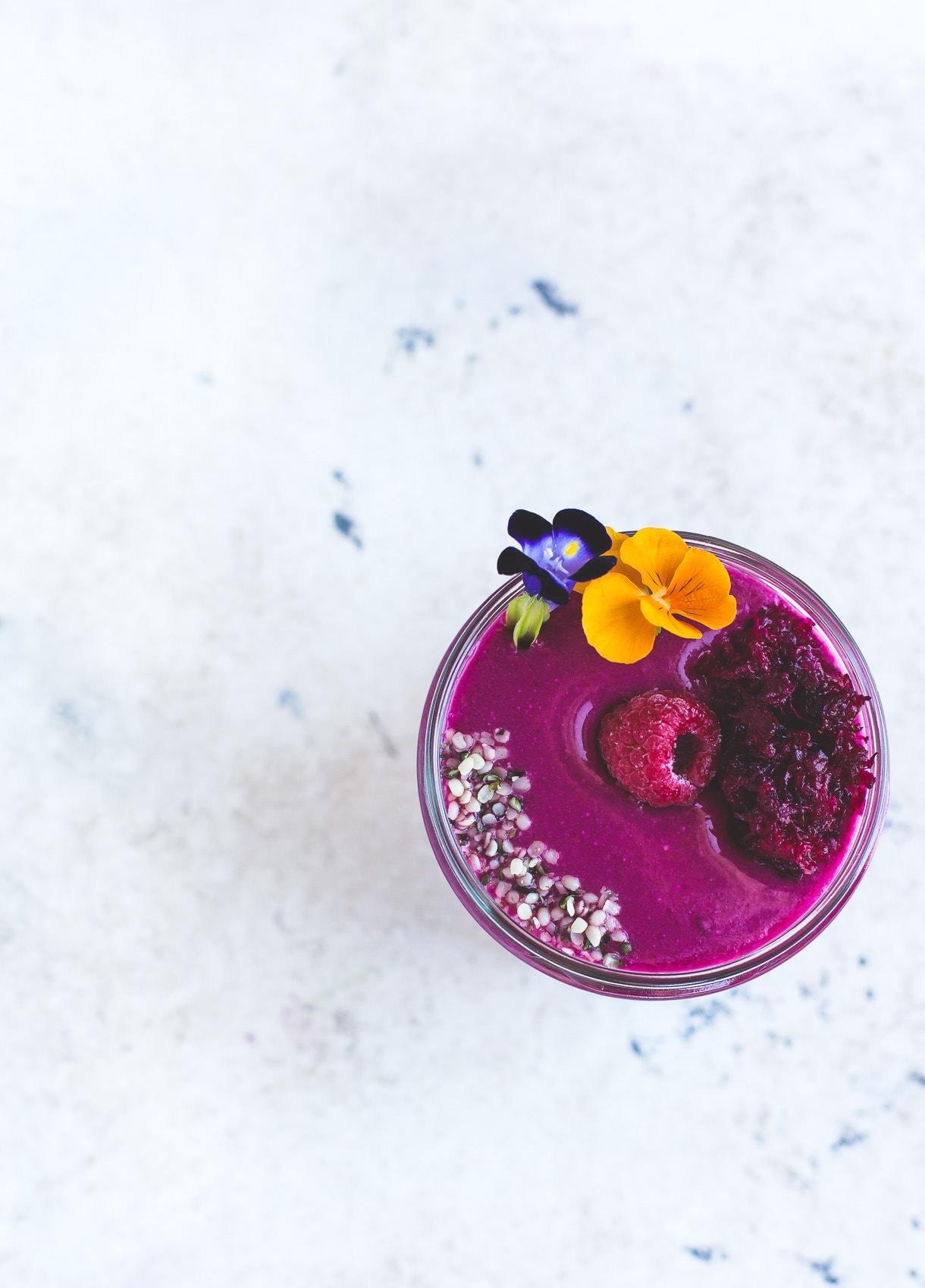 Raspberry Sweet Beet Smoothie {paleo}