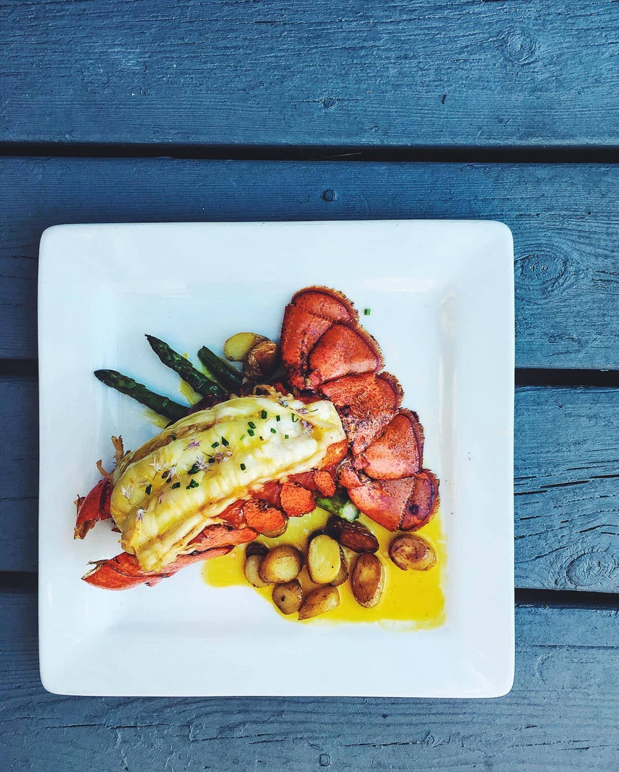 lobster at The Boathouse: Traverse City