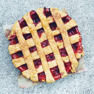 Lattice Top Tart Cherry Pie