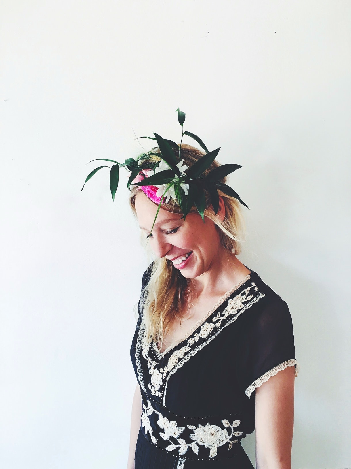 Flower Crown, Vintage Bohemian Dress