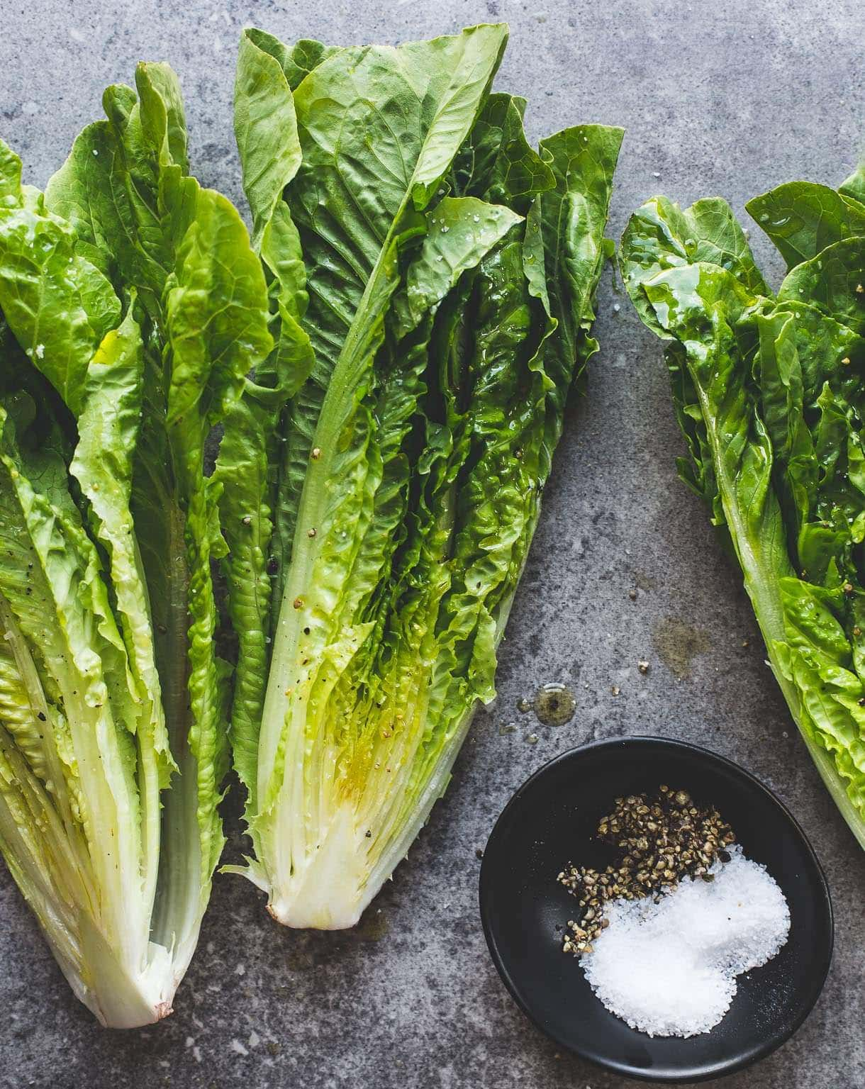 Olive Oil Grilled Romaine Lettuce {heartbeet kitchen blog}