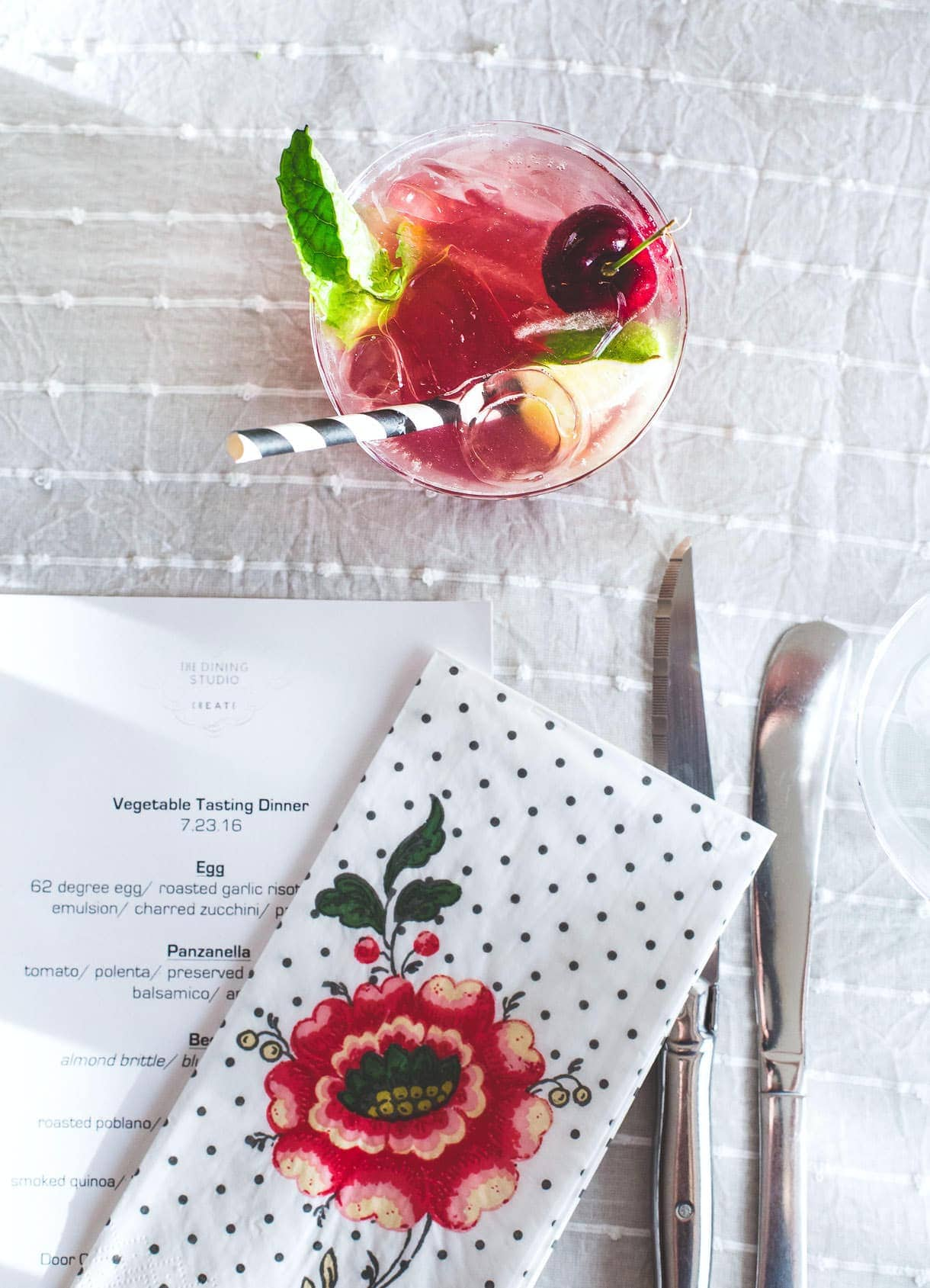 La Croix Mocktail Dinner