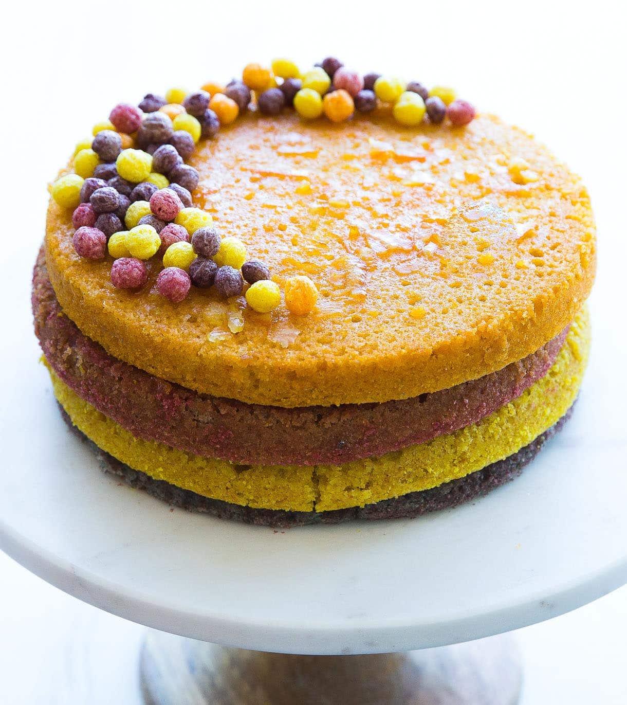 Triple Layer Trix Cake {gluten-free}