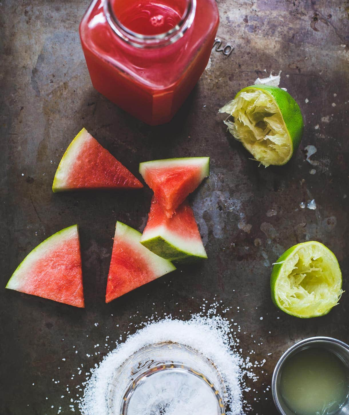 watermelon shrub elixer {sweetened with maple}