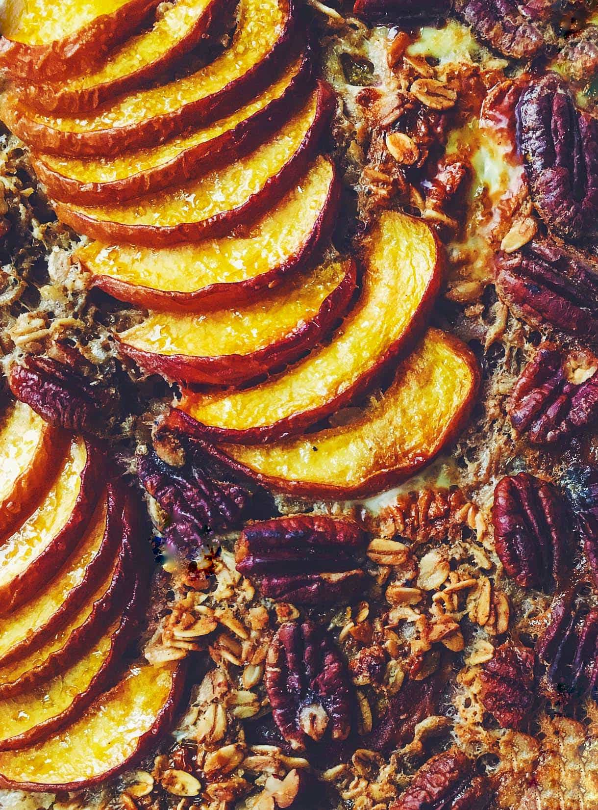 Peach Baked Muesli {heartbeet kitchen blog}