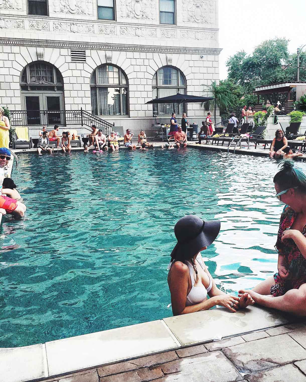 Pool Scene -- Chase Park Plaza