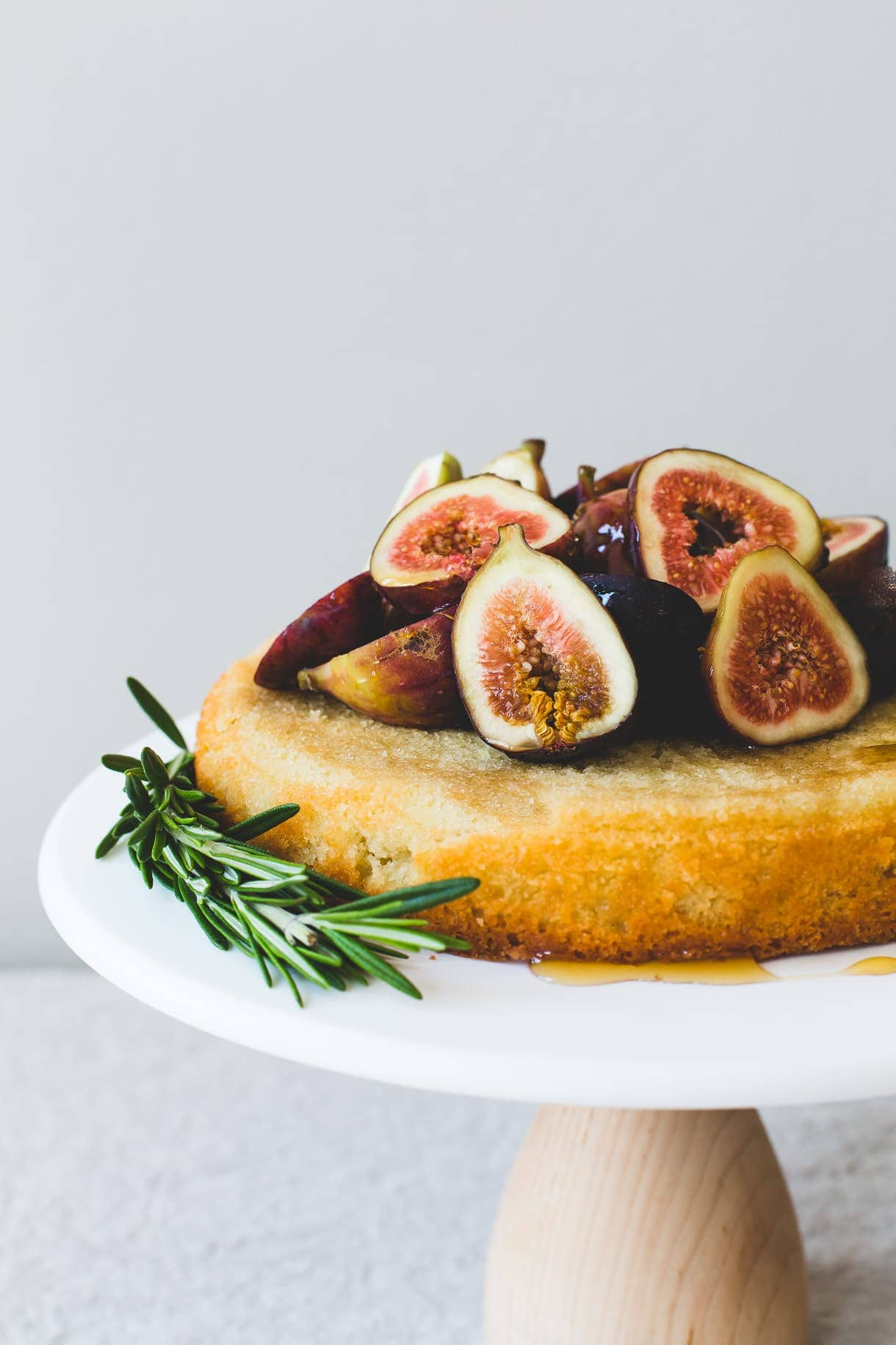Gluten-Free Almond Cake with Figs & Honey