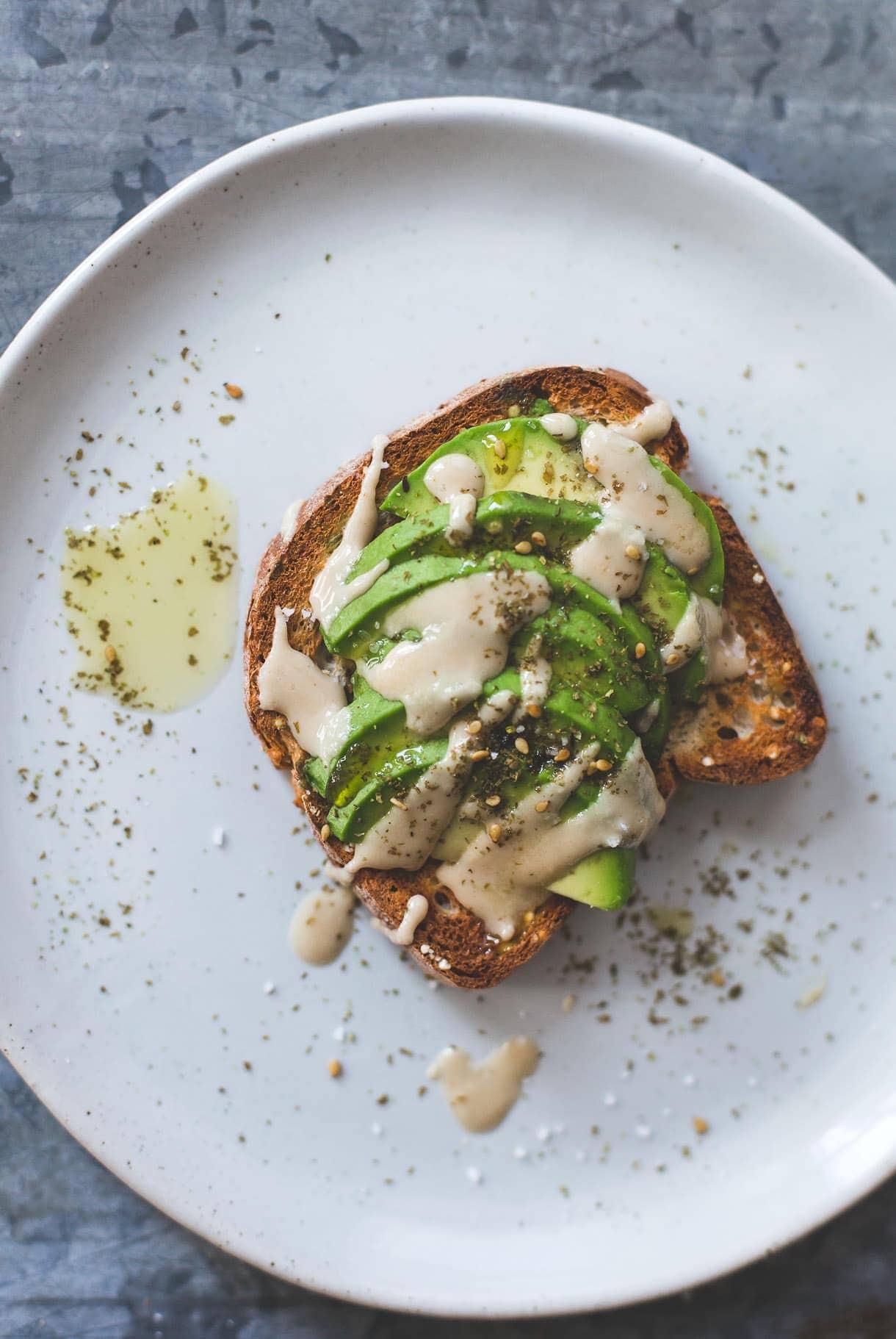 Tahini Avocado Toast {with za'atar spices}