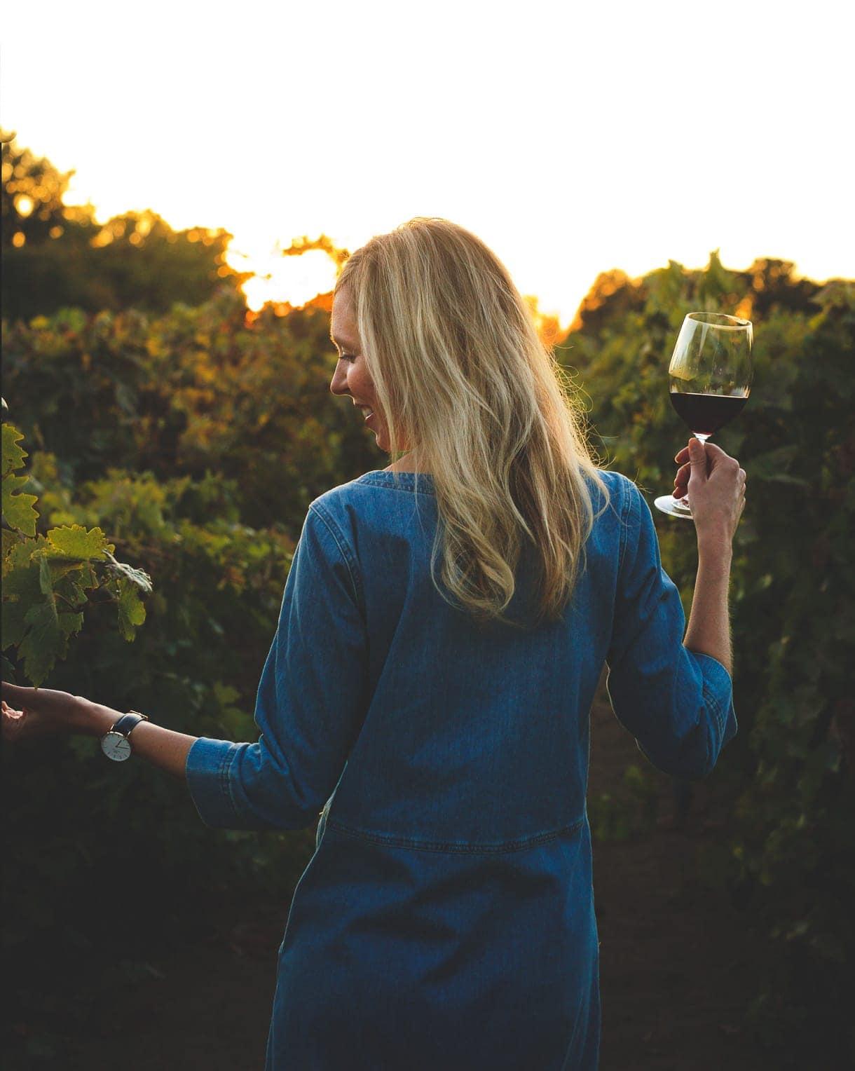 Amanda Paa | Heartbeet Kitchen in vineyard