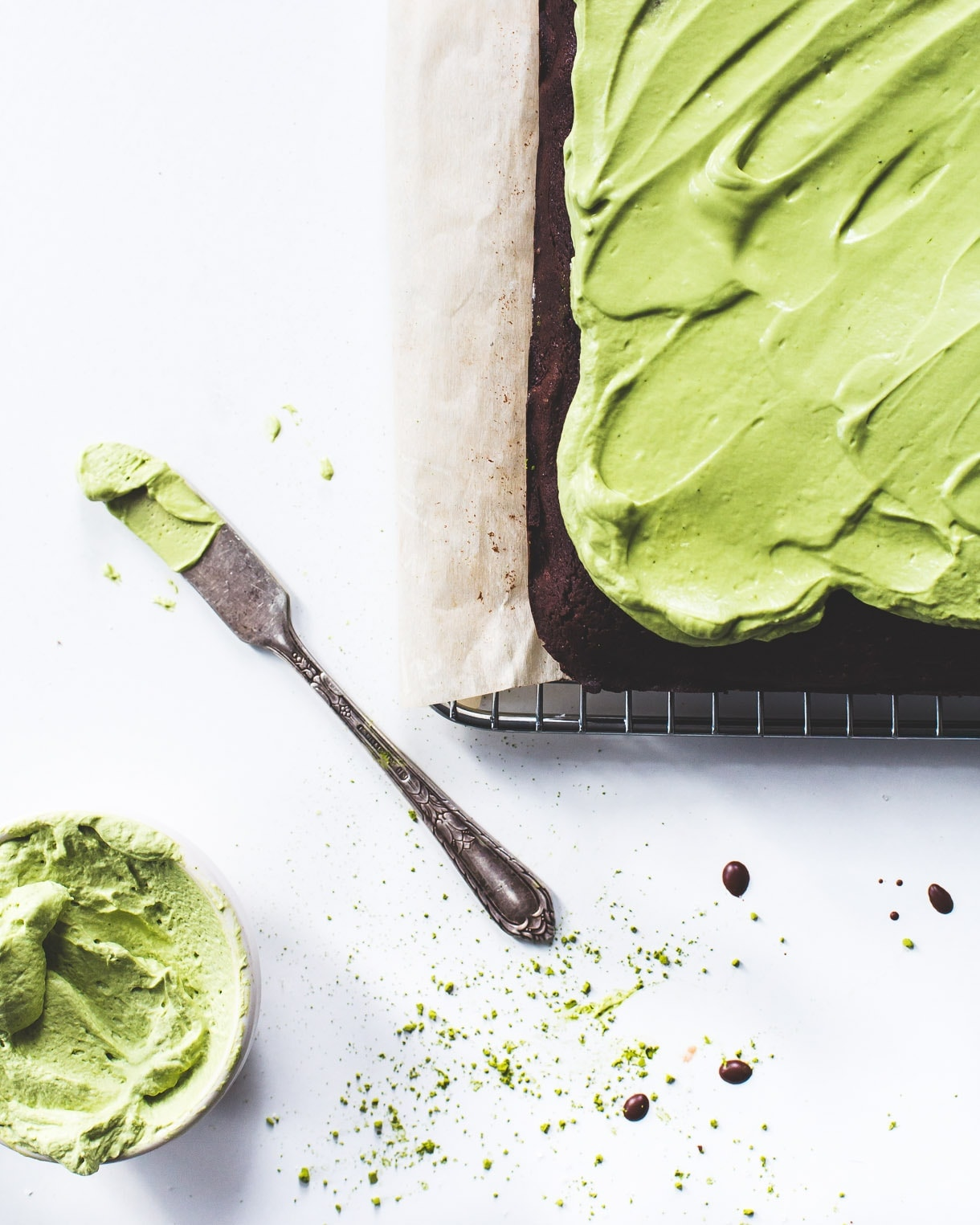 Homemade Gluten Free Brownie Recipe with Matcha Frosting