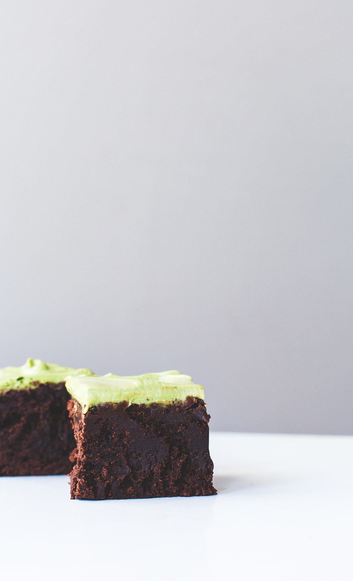 Dark Cocoa Brownies with Matcha Frosting {gluten-free}